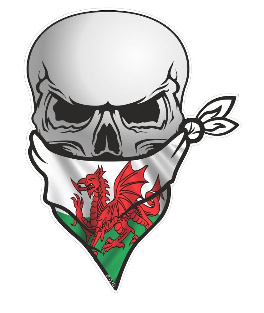 Gothic Biker Pirate Skull With Face Bandana Amp Welsh Wales